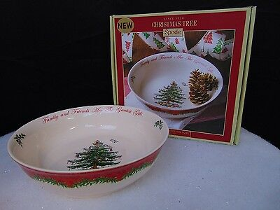 """Spode Christmas Tree 2013 Annual Large Serving Bowl Limited Edition 10"""" #C38"""