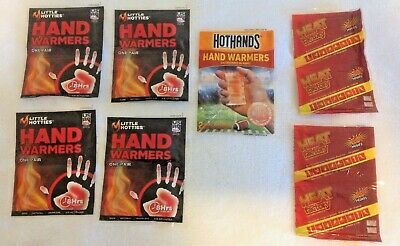 Hand Warmers Lot of 10 Little Hotties Hot Hands 8 to 10 Hours Exp 7/22 Emergency