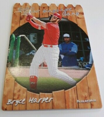 2019 Panini Leather & Lumber Bryce Harper Knothole Gang Die-Cut Insert PHILLIES