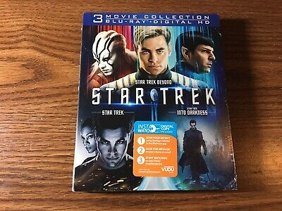 Star Trek 3 Movie Collection Blu-ray, and Digital HD, Brand New Sealed