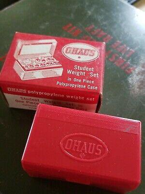 Boxed Ohaus 5502 214 Student Metric Weight Set Fractional & Gram Weights Case