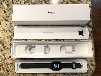 Apple Watch Series 3 42mm Space Gray Aluminum Black Sport Band MQL12LL/A