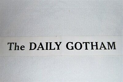 "BATMAN RETURNS - Movie Prop - ""The Daily Gotham"" sign"