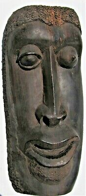 HEAVY African Carved Wood Mask - Blinking Eye