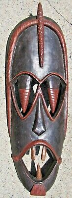 LARGE African Carved Wood Mask - A Beauty