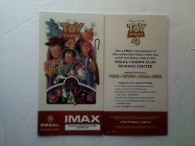 Regal Imax Collectible Ticket Toy Story 4