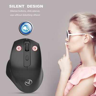 T28 Noiseless Wireless Vertical Mouse Rechargeable 6 Buttons 2400DPI Mice TB