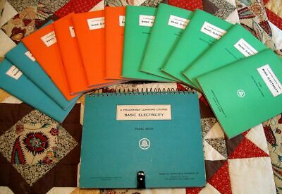Rare 1962 Bell System At&T Western Electric Electricity Course Books Full Set