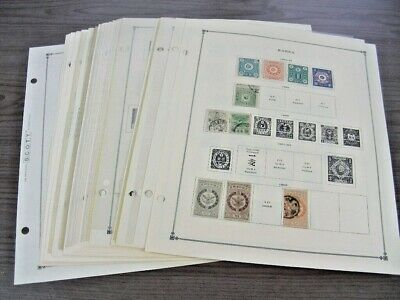 KOREA, Advanced Stamp Collection mostly  hinged on Scott pages