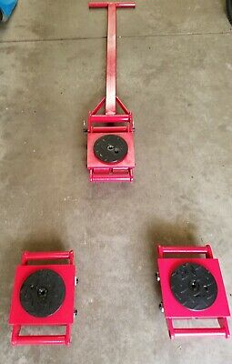 Kawashima 18 Ton heavy machine dolly skate set with handle moving 3 skate set
