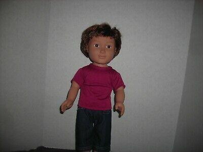 """Brand """"New"""" Maroon Top And Cute Jean Pants For 18"""" Boy Doll"""