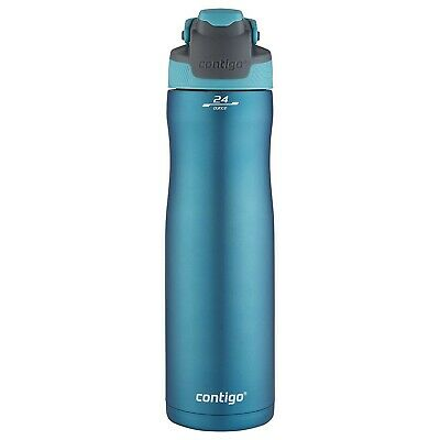 Contigo Stainless Steel Water Bottle 24Oz Double Wall Vacuum Camping Hiking NEW