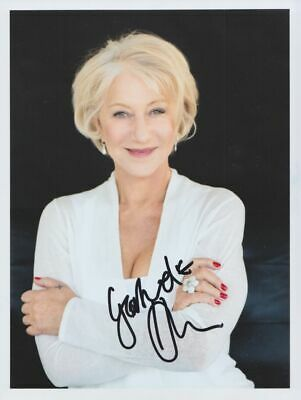 HELEN MIRREN in person signed PHOTO 8 x 11 inch AUTOGRAPH