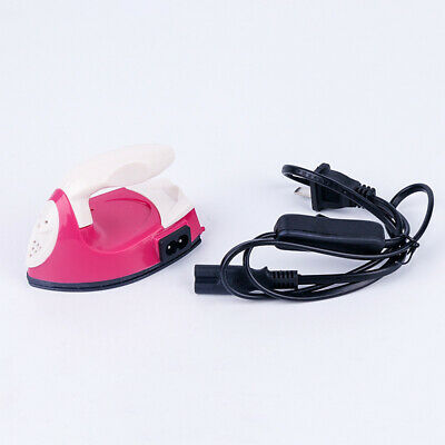 Mini Electric Iron Small Portable Travel Crafting Craft Clothes Sewing New E5V6W