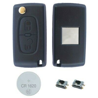 02B Fits CITROEN  C3 C4 2 Button KEY FOB REMOTE CASE Repair Fix Kit CE0523