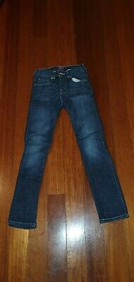 Kids Blue Denim Authentic Levi Strauss Jeans -Adjustable Waist, SIZE 8