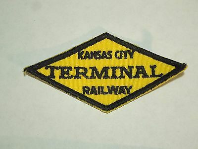 Vintage Kansas City Terminal Railway Railroad Railroadiana Kansas Sew On Patch