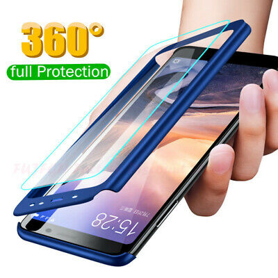 360°Protection Phone Case+Tempered Glass For iPhone X XS MAX XR 8 7 6S Plus 5 SE
