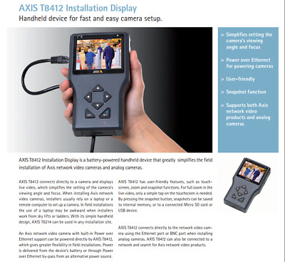 AXIS T8412 Installation Display