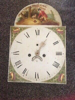 Hand Painted Grandfather Clock Face And Movement - Birmingham