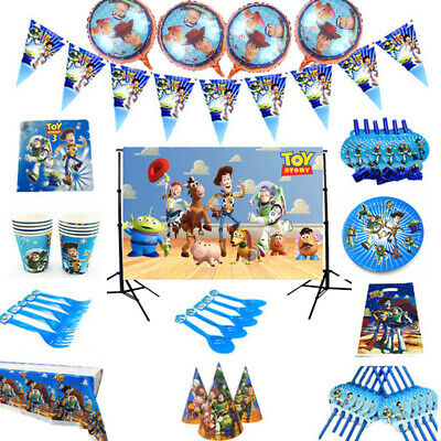 Toy Story Birthday Party Tableware Kids Tablecloth Balloons Banner Decoration