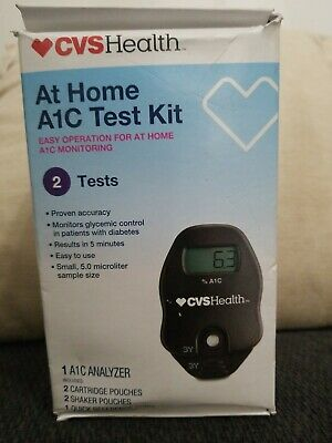 CVS At Home A1C Test Kit 2 Tests New Read