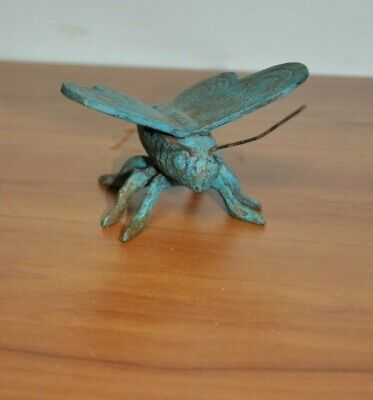 Cast Iron Rustic Butterfly Insect Garden Statue Figure Paperweight