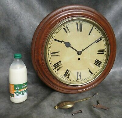 "A Good Working Oak Cased Single Train Fusee Wall Clock With 11"" Dial *Serviced*"