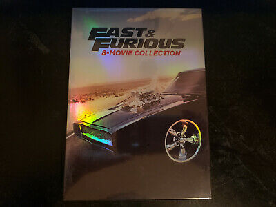 Fast and Furious: 8-Movie Collection (DVD, 2017, 9-Disc Box Set) NEW