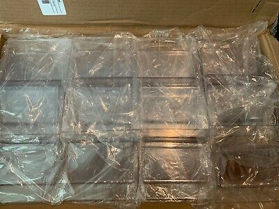 "12 QTY! *BULK LOT* 5-1/2""X8-1/2"" Ledge Plexi Shelf Or Desk Product Card Holders"