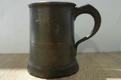 Antique half pint pewter mug/tankard by Edgar & Son, Bristol c1830 .