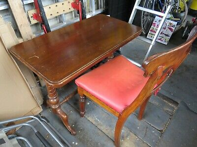 Victorian small hall or work table in mahogony