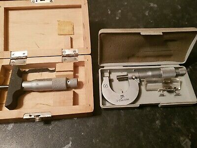 0 to 25mm Micrometer  and  0 to 25 depth micrometer