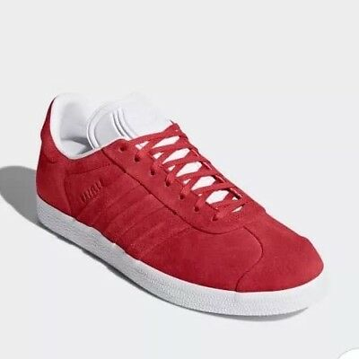 Adidas Originals Gazelle Stitch And Turn Trainers Size 8 Red/White