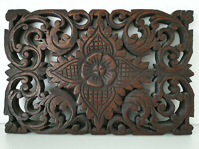 19th century antique black forest wood nice carved panel