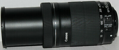 Canon EF-S 55-250mm f/4-5.6 IS STM lens [pristine, in white box]