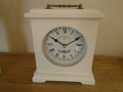 Shabby Chic Mantle Clock ,Dressing Table Clock White