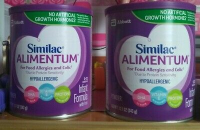 Lot of 2 Similac Alimentum cows milk power.