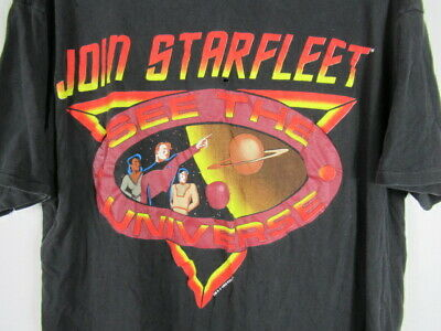 VINTAGE 90s Join Starfleet T Shirt Star Trek See the Universe 1993 SOFT THIN XL