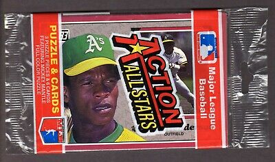 1983 Donruss Action All Star Pack w/ Rickey Henderson on Top - Athletics HoF
