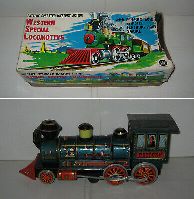 WESTERN SPECIAL LOCOMOTIVE,MODERN TOYS,MASUDAYA,TOLE,TINPLATE,TRAIN,JAPAN,60s