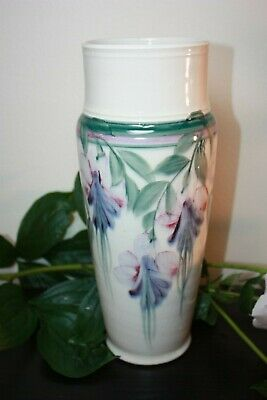 pottery studio art vase hand painted Linden Hills Pottery LHP 12""