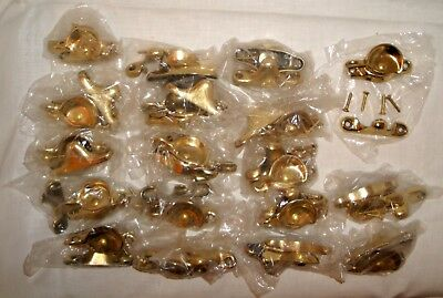 Solid Brass Window Sash Lock Sets (18), Bright Polish Finish NEW & NEVER USED