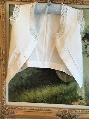 Antique Lace Victorian Camisole Corset Cover For Girl handsewn, Embroidery