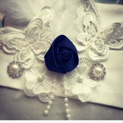 Butterfly Rose Feather Embellished Bridal Belt