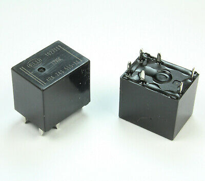 2pcs Hella Relay 12VDC, DPST (SPST for High Current) 4RA 743 555-11