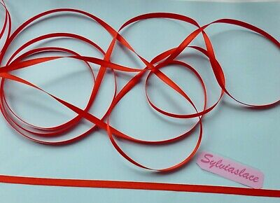 10  metres  of    Red  Single  sided  Woven edge ribbon  5 mm wide