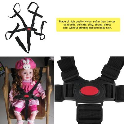 5 Point Harness Stroller High Chair Pram Buggy Car Safe Belt Strap Baby Cw
