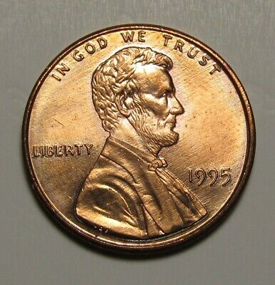 1995 Doubled Lincoln Cent UNC w/ Major Die Det. Doubling on Both Sides DDO/DDR