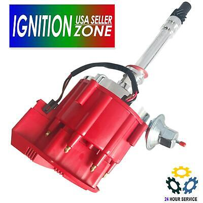 For Premium HEI Chevy Ignition Distributor [Red] For SBC Small Block 305 350 400